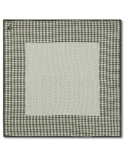 Canali Green silk pocket square with geometric motif-1_0