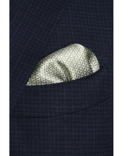 Canali Green silk pocket square with geometric motif-1_1