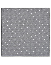 Canali Gray polka dot pocket square with woven pattern-1_0