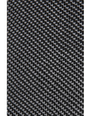 Canali Black silk knitted tie-1_1