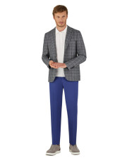 Canali Dark blue Ultra Light blazer in textured silk-wool blend-1_1