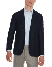 Canali Navy blue pure wool ultra light blazer-1_2