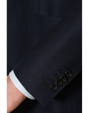 Canali Navy blue pure wool ultra light blazer-1_4