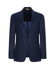 Canali Blue Kei blazer in wool-silk-linen blend-1_0