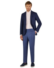 Canali Blue Kei blazer in wool-silk-linen blend-1_1