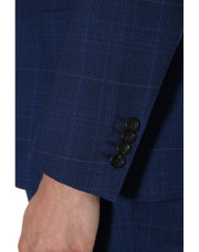 Canali Dark blue Prince of Wales suit in Impeccabile wool-1_2