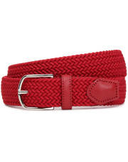 Canali Red woven belt in technical fabric-1_0