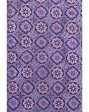 Canali Silk tie with medallion motif purple-1_1