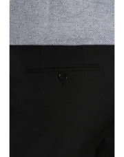 Canali Black pure wool dress pants-1_3