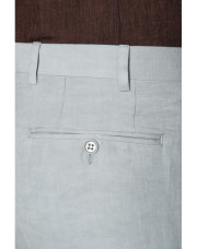Canali Light gray dress pants in linen-silk blend-1_3