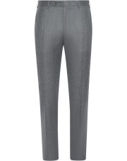 Canali Light gray mélange wool dress pants-1_0