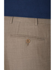 Canali Light brown wool dress pants-1_3