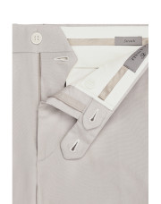 Canali Beige cotton-stretch flat front dress pants-1_4