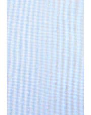 Canali Light blue dress shirt with gingham optical motif in pure cotton-1_1