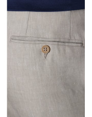Canali Beige dress pants in linen-wool blend-1_4