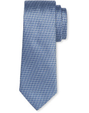 Canali Light blue silk tie with bicolored woven pattern-1_0