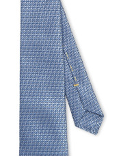 Canali Light blue silk tie with bicolored woven pattern-1_2