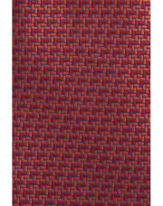 Canali Red silk tie with bicolored woven pattern-1_1