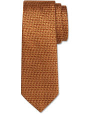 Canali Ochre silk tie with bicolored woven pattern-1_0