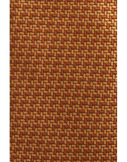 Canali Ochre silk tie with bicolored woven pattern-1_1