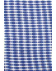 Canali Blue and white cotton dress shirt with honeycomb effect-1_2