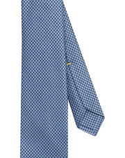 Canali Light blue silk tie with optical pattern-1_2