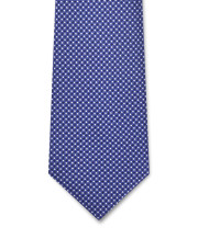 Canali Blue silk tie with optical pattern-1_1