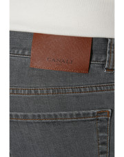 Canali Gray 5-pocket jeans in stretch cotton-1_3