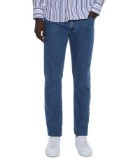 Canali Medium wash 5-pocket jeans in stretch cotton-1_1