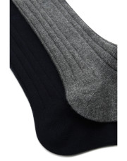 Canali Black and Gray Cashmere sock two-pack-1_1