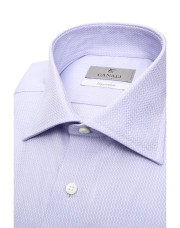 Canali Impeccabile purple cotton dress shirt with optical motif-1_2