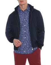 Canali Navy waterproof bomber with detachable hood-1_0