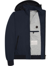 Canali Navy waterproof bomber with detachable hood-1_4