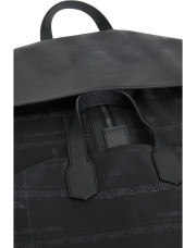 Canali Black calfskin garment bag with technical fabric insert-1_3
