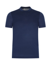 Canali Navy blue mercerized cotton t-shirt-1_0