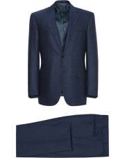 Canali Navy Exclusive suit with pin dot motif in Super 160's wool-1_1