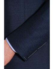 Canali Navy Exclusive suit with pin dot motif in Super 160's wool-1_2