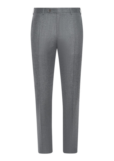 Light gray mélange wool dress pants