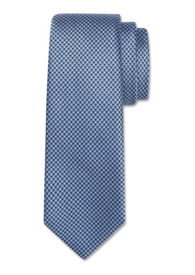 Light blue silk tie with optical pattern
