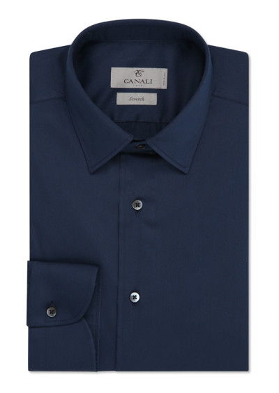 Dark blue dress shirt in cotton blend