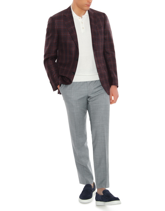 Canali Bordeaux and blue wool-silk crisscross blazer-2_4