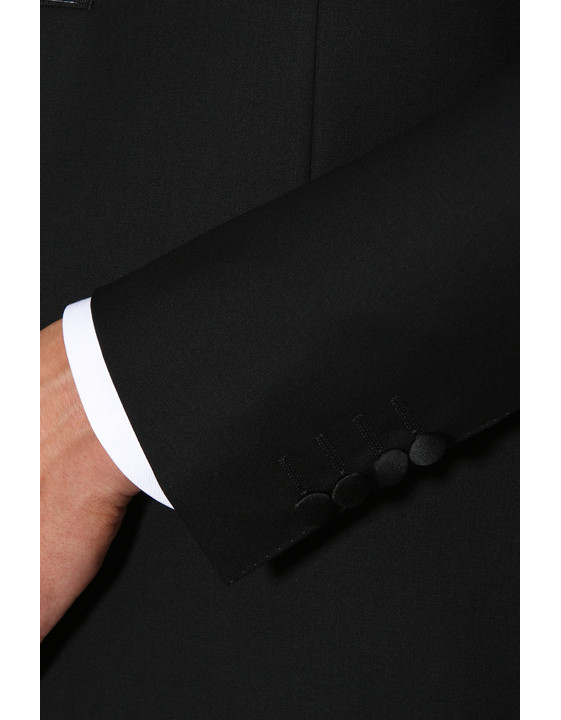 Canali Black wool tuxedo with silk peak lapels-2_2