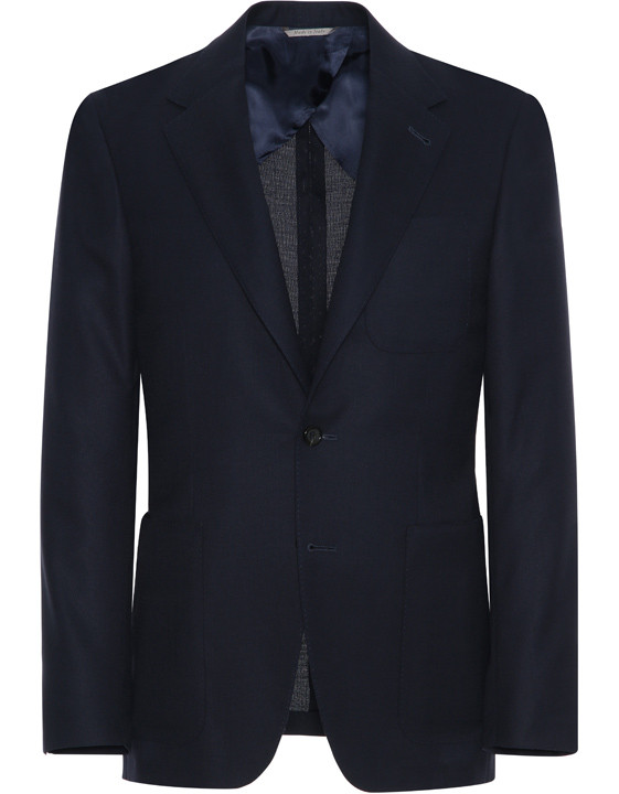 Canali Dark blue ultra-light blazer in pure wool-2_1