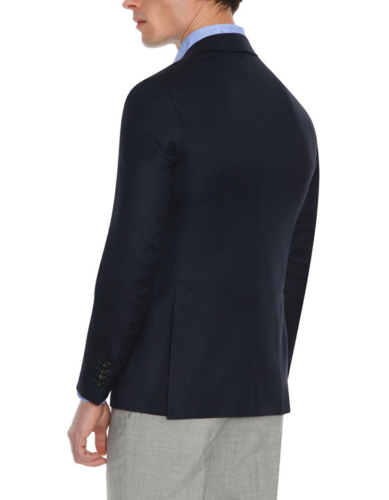 Canali Dark blue ultra-light blazer in pure wool-2_2
