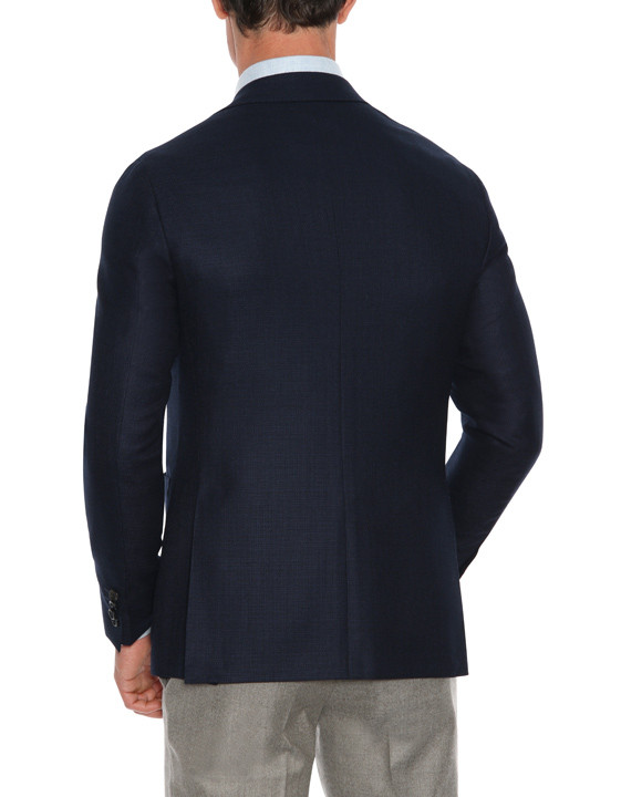 Canali Navy blue pure wool ultra light blazer-2_3