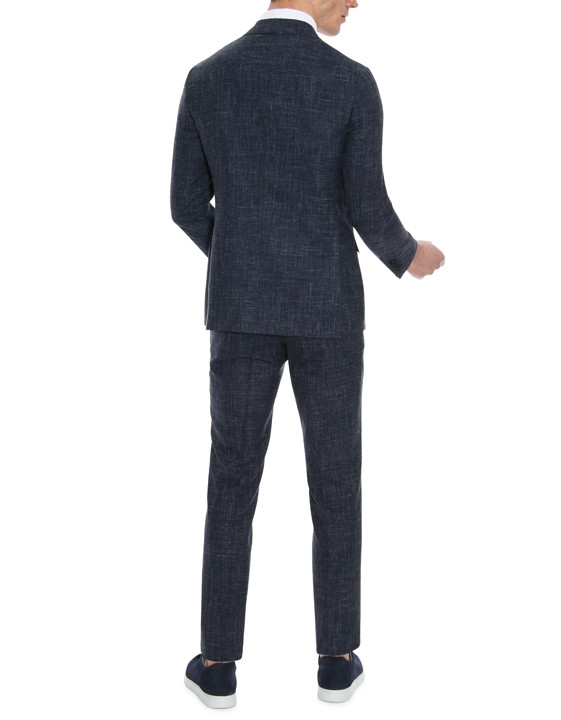Canali Blue Kei suit in woolndsilkndlinen blend-2_3