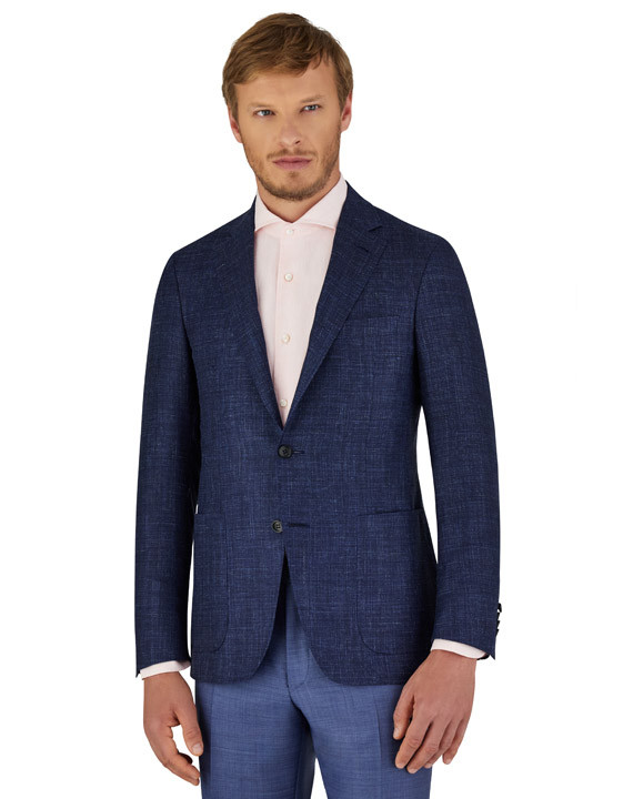 Canali Blue Kei blazer in wool-silk-linen blend-2_2