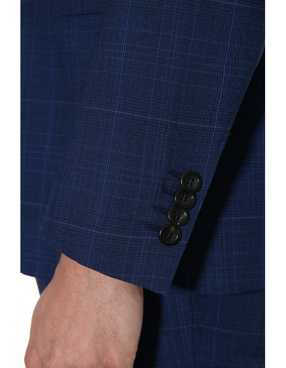 Canali Dark blue Prince of Wales suit in Impeccabile wool-2_2