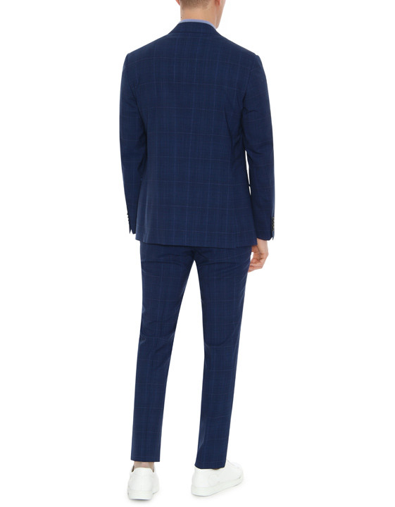 Canali Dark blue Prince of Wales suit in Impeccabile wool-2_3