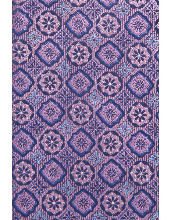 Canali Silk tie with medallion motif purple-2_1